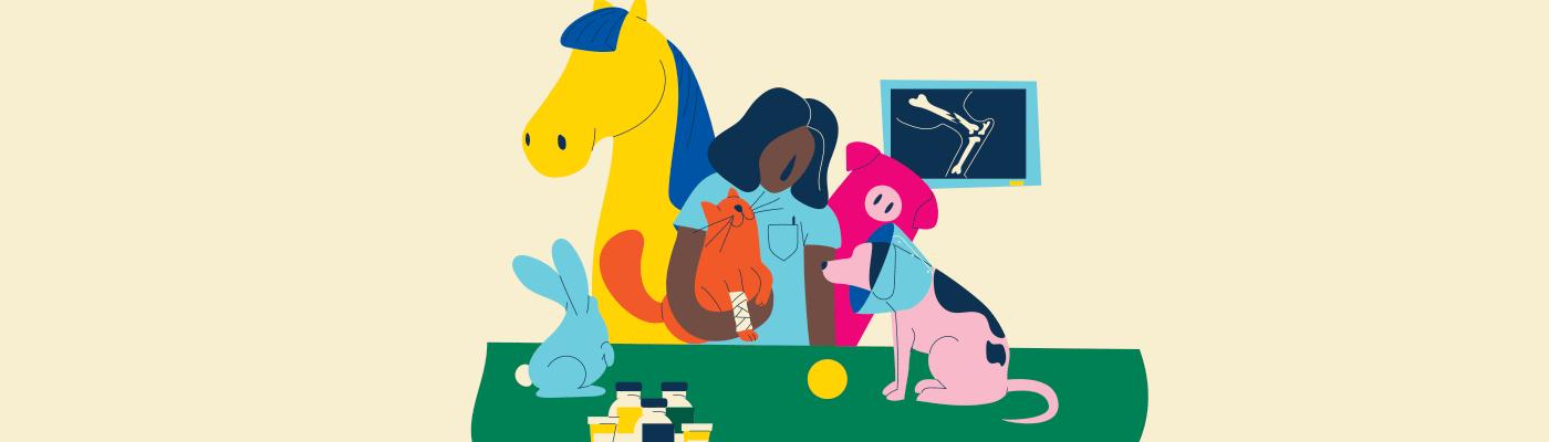 Illustration Techniques de santé animale