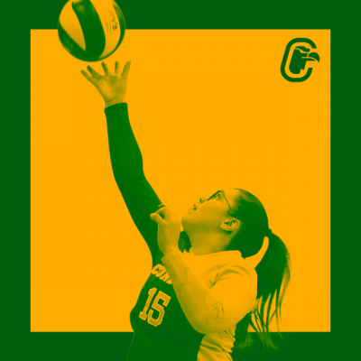 Joueuse de volleyball effectuant une touche